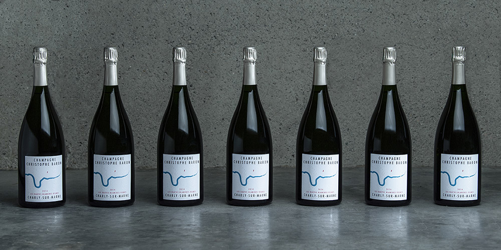 7 Magnum bottles of the 2014 Les Hautes Blanches Vignes by Champagne Christophe Baron