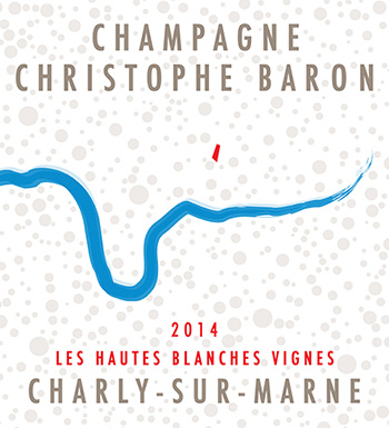 The label for Les Hautes Blanches Vignes by Champagne Christophe Baron.