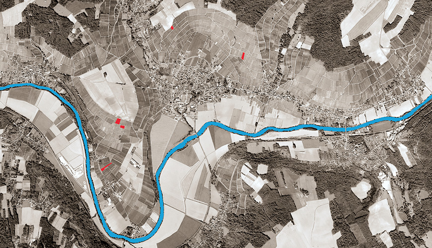 A map highlighting Champagne Christophe Baron's Marne Valley vineyards.